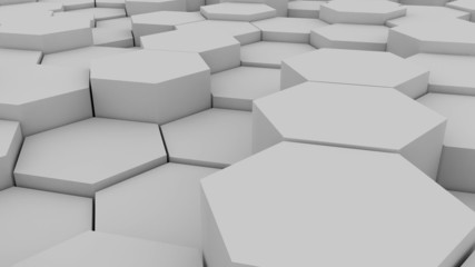 Abstract hexagonal background.Seamless loop
