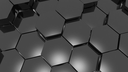 Hexagons.Alpha matte