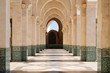 Morocco. Arcade of Hassan II Mosque in Casablanca - 77204123