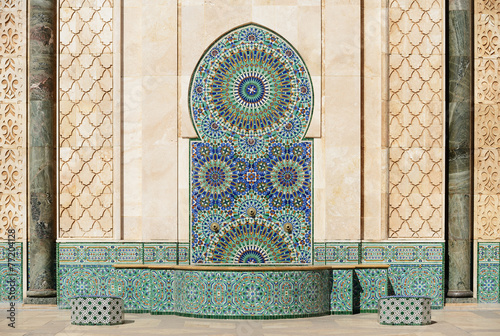 Fotobehang Marokko Morocco. Detail of Hassan II Mosque in Casablanca