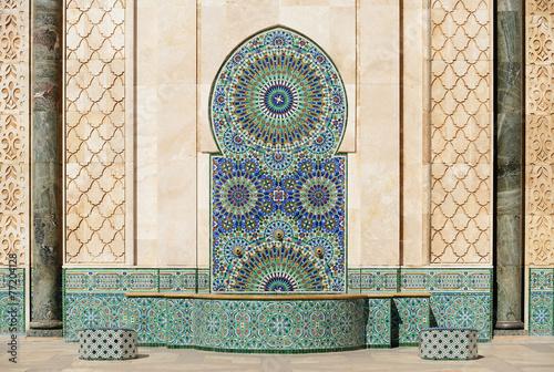 Morocco. Detail of Hassan II Mosque in Casablanca - 77204128