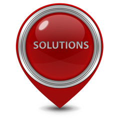 Solutions pointer icon on white background