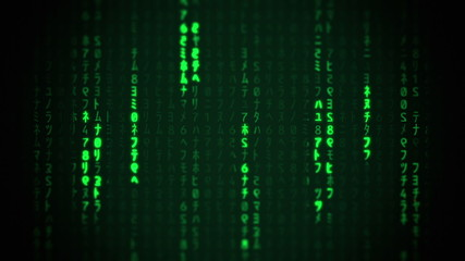Matrix Characters Falling
