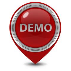 Demo pointer icon on white background