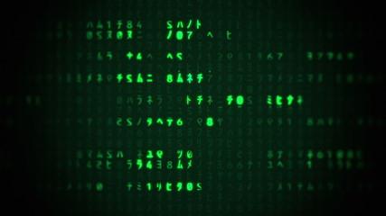 Matrix Characters Scrolling
