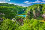 Fototapety Plitvice Lakes NP from Vidikovac point #2,  Croatia
