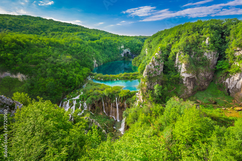 Poster Meer / Vijver Plitvice Lakes NP from Vidikovac point #2, Croatia