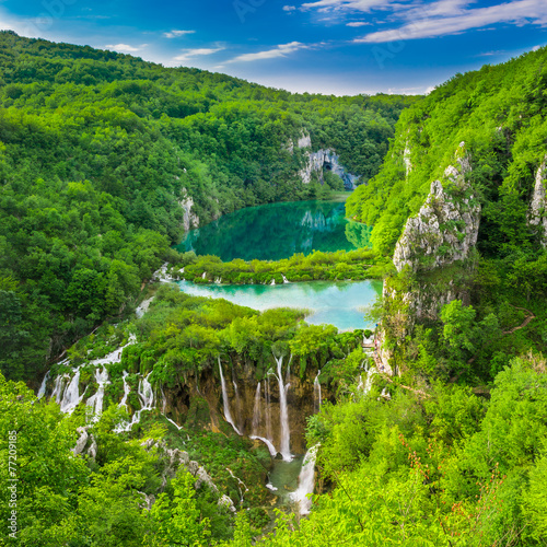 Plitvice Lakes NP from Vidikovac point #3,  Croatia - 77209185