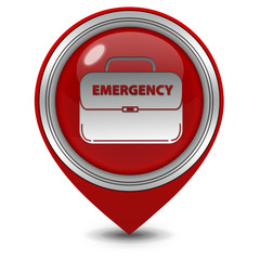 Emergency pointer icon on white background