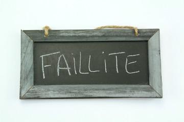 ardoise faillité