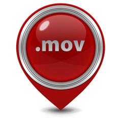 .mov pointer icon on white background