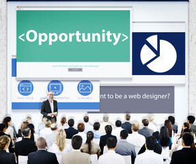 Business People Opportunity Web Design Seminar Concept
