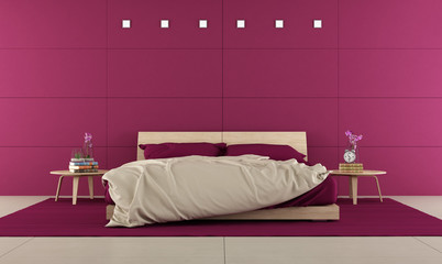 Purple Bedroom with contemporary bedroom