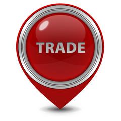 Trade pointer icon on white background