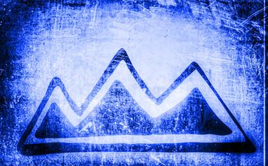Berge, Blau