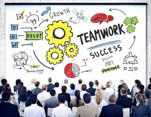 Teamwork Team Together Collaboration Business Seminar Concept