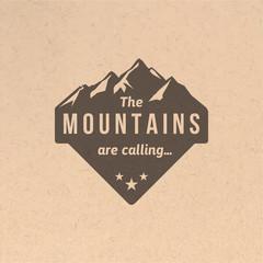 Vintage mountain label