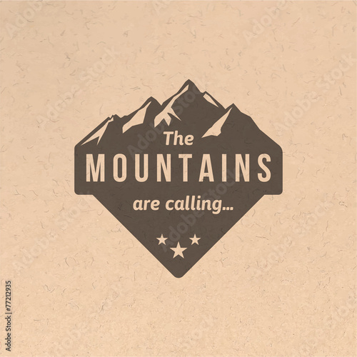 Vintage mountain label - 77212935