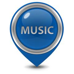 music pointer icon on white background