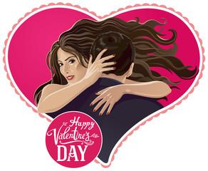 llustration - pair. Valentine's Day.