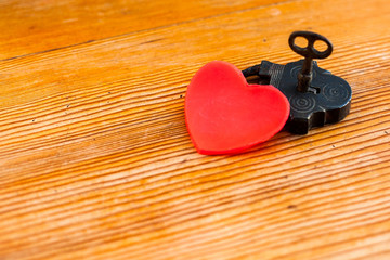 love locked heart shape