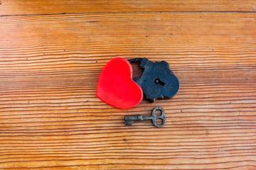 love locked heart shape