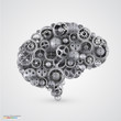 Cogs in the shape of a human brain - 77216149