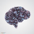 Cogs in the shape of a human brain - 77216156