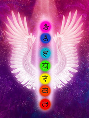 Chakras and Angel Wings