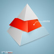Pyramid icon for business concept background - 77216352