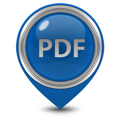 Pdf pointer icon on white background