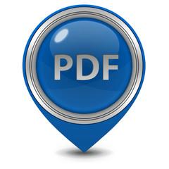 Pdf pointer icon on white background