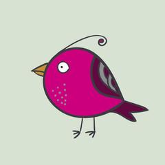 Abstract bird. Vector illustration