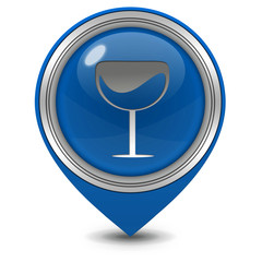 Wine pointer icon on white background