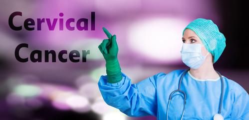 female doctor cervical cancer