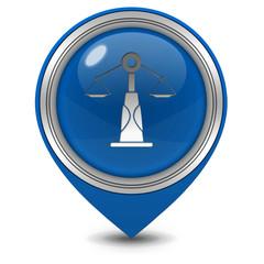 Law pointer icon on white background