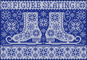 Figure skating. Knitted northern style.