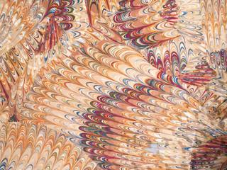 孔雀の羽のパターン