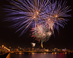 New Year fireworks in Tallinn