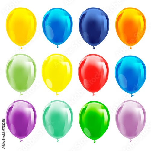 Colorful balloons - 77220516