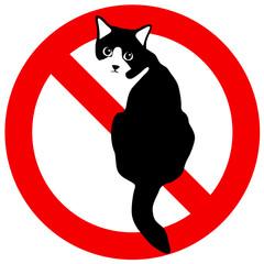 猫禁止 ポスター