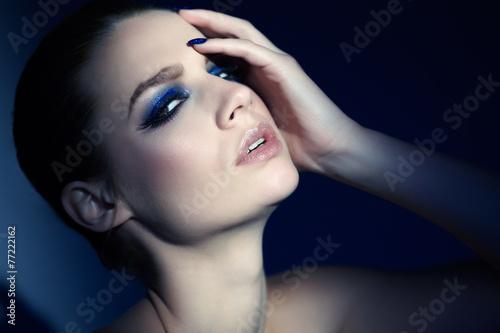 Blue Glitter Poster
