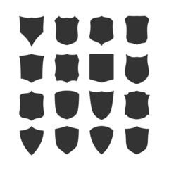 Big set of blank, classic shields