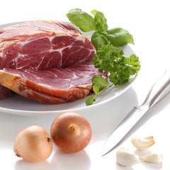Raw smoked pork
