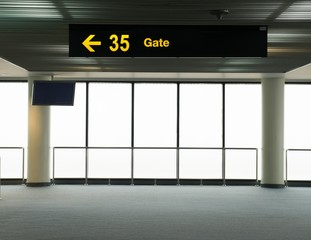 waiting section in the airport