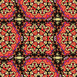 Arabesque seamless pattern. Seamless Pattern Red Color