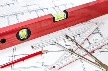 Vermessung Bauplan