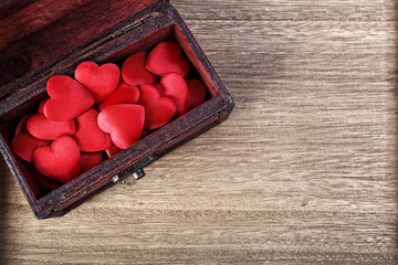 Heart in a wooden box