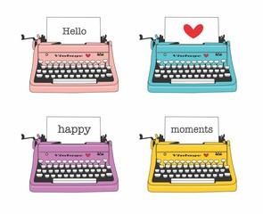 máquina de escrever, retro, vintage