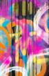Leinwanddruck Bild - Colorful graffiti